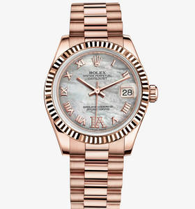 "Replica Rolex Datejust Lady 31 Watch : 18 kt Everose gold - M178"" title="" Replica Rolex Datejust Lady 31 Watch : 18 kt Everose gold - M178 "" width=""220"" height=""236"