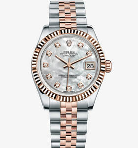 "Replica Rolex Datejust Lady 31 Watch : Everose Rolesor - kombina"" title="" Replica Rolex Datejust Lady 31 Watch : Everose Rolesor - kombina "" width=""130"" height=""139"