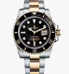"Replica Rolex Submariner Date Watch : Gul Rolesor - kombination"" title="" Replica Rolex Submariner Date Watch : Gul Rolesor - kombination "" width=""220"" height=""236"