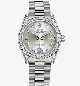 Replica Rolex Datejust Lady 31 Watch : 18 karat hvidguld med kab