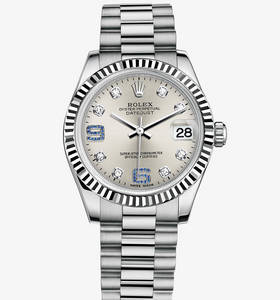 Replica Rolex Datejust Lady 31 Watch : 18 karat hvidguld - M1782