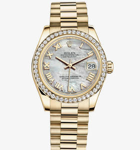 Replica Rolex Datejust Lady 31 Watch : 18 karat guld - M178288 -