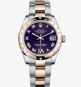 Replica Rolex Datejust Lady 31 Watch : Everose Rolesor - kombina