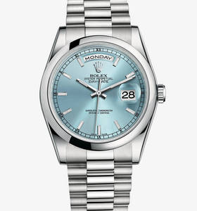 Replica Rolex Day-Date Watch : Platinum - M118206 -0040